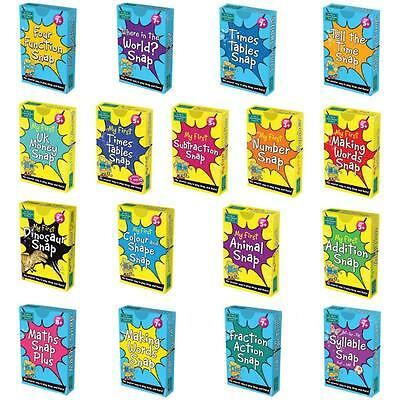 Snap Pairs Card Game Learning Maths Words Numbers Times Tables Money Memory