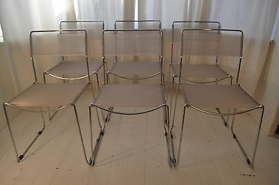 Stunning Set 6 Vintage Belotti Spaghetti Dining Chairs