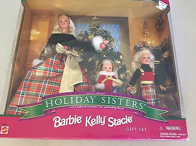 Barbie Holiday Sisters Gift Set Barbie Stacie Kelly 1999 Christmas Special Editi
