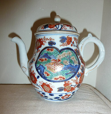 Very Fine Antique Japanese Imari Porcelain Teapot 19th c. 1800 -1899 with gilt