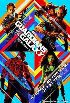 "GUARDIANS OF THE GALAXY 13""x19"" Original Promo Movie Poster MINT First Look Imax"