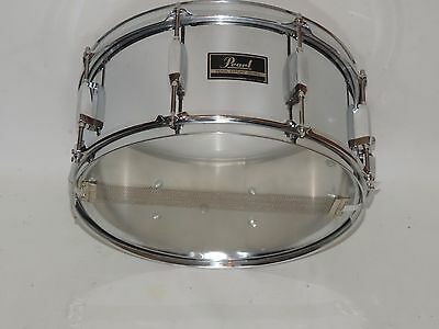 Pearl Export 6.5 x 14 Metal Snare Drum New Heads