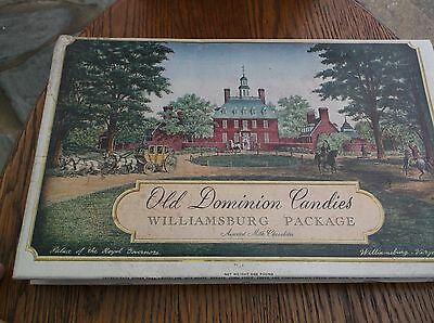Vintage antique Old Dominion candy chocolate Williamsburg box great graphics