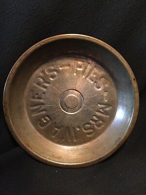 Vintage Antique Tin Pie Pan Mrs. Wagner's Pies 9""