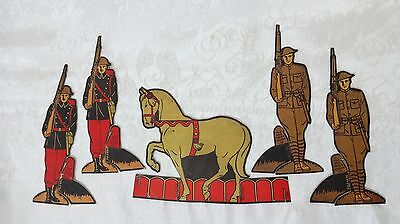 1930's Post Toasties Cereal Cardboard Doughboy Soldiers and Horse