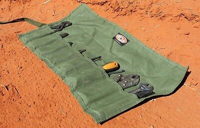 Canvas Tool Roll G.P,  Screwdriver Plier Spanner 8 Pocket  Aus made. Aus canvas