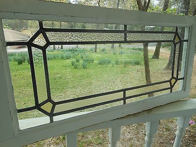 LAM-322 Older Pretty Transom Style English Leaded Stain Glass Window 7 Available
