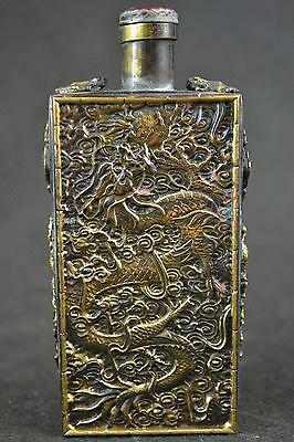 Chinese Bronze Carved statue ' Dragon ' snuff bottles