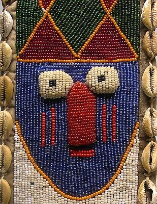 A Fine YORUBA DIVINER'S BEADED PANEL From Nigeria ~ EXQUISITE!!!