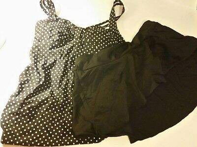 Oh Baby By Motherhood Maternity Pokla-Dot Swimsuit Size Small 4-6