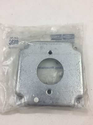 "Raco Qty-6 4"" Square Cover Raised 1/2"" 20A Twist-Lock Receptacle 1.620"" 812C"