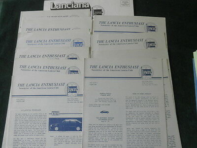 The Lancia Enthusiast Newsletter Lot of 12+ 1984-6