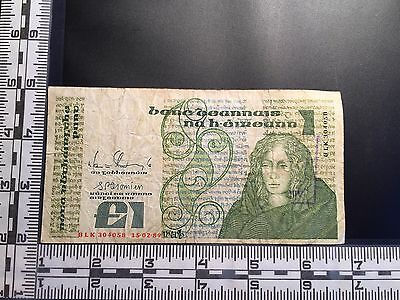 Ireland, 1 Pound banknote 1989, heavily circulated