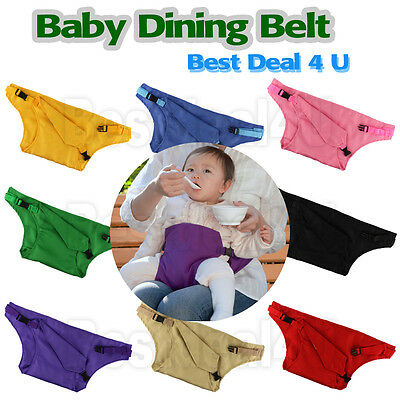 Portable Safety Baby Dining Belt Chair Seat Feeding Stretch Wrap