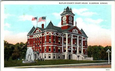 ELDORADO, Kansas  KS   BUTLER COUNTY COURT HOUSE  ca 1910s   Postcard