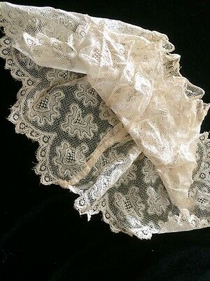 Antique French Dolls Lace Skirt Petticoat Slip Doll Costume Clothing