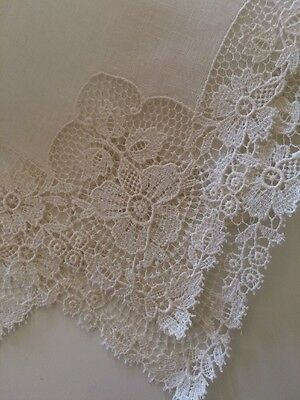 Vintage Bridal Lace Wedding Hankies Handkerchief Hanky Collect Heirloom Linens