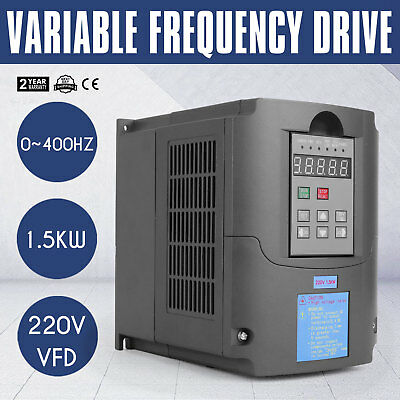 2Hp 1.5Kw Vfd Drive Inverter Calculous Pid Perfect Motor Control Special Buy