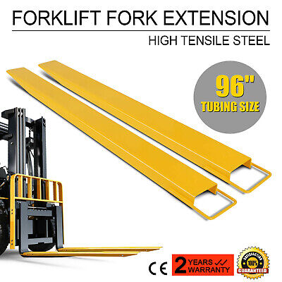 "96""x6"" Forklift Pallet Fork Extensions Pair Lift Truck Lifting Steel-Constructed"