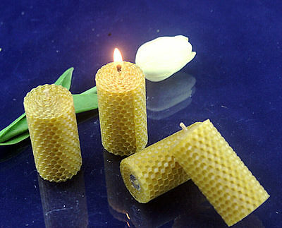 6Pcs Hand-Rolled 100% natural beeswax candle with Natural bee wax