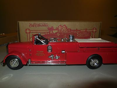 1995 ertl 1955 ward lafrance northvale new jersey die-cast fire truck
