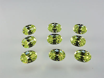 Lemon Peridot 14x10mm Oval Shape Loose Stones Cubic Zirconia Gemstones
