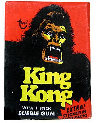 Topps KING KONG sealed/Unopened Wax Pack (1976)