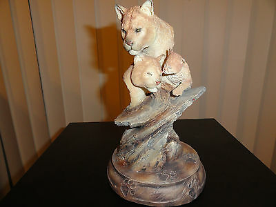 Cats of One Color- Mill Creek Studios- Cougar family statue / sculpture