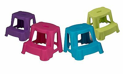New Kids 35cm Bathroom Step Stool For Toilet Home Potty Training Plastic Double