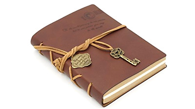 Beautiful Journal Diary Retro Vintage Classic Leather Bound Notebook Planner Lpy