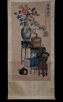 Unique Antique China Landscape Scroll Painting Collection Mark KongShaoYu PM053