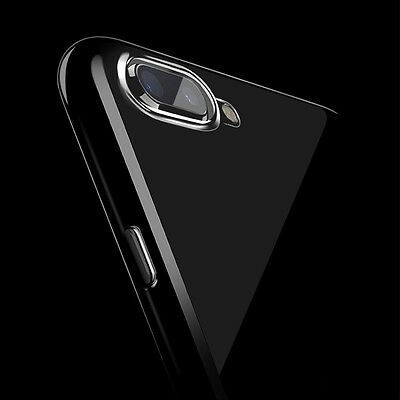 For iPhone X 10 8 7 6s JET BLACK Ultra Thin Slim TPU Gel Skin Cover Case Pouch