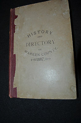 Original 1887 History and Directory Warren County New Jersey