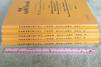 Ornamental Iron Designs 5 Volumes The Gold Book R.J. Cunningham 1976