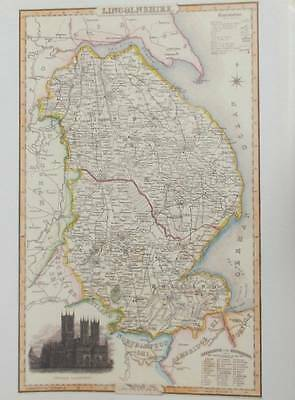 Map of the County of LINCOLNSHIRE : 1840 Pigot and Co -  Reproduction