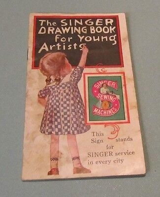 Antique Singer Sewing Machine Drawing Book for Young Artists Animals Butterflies