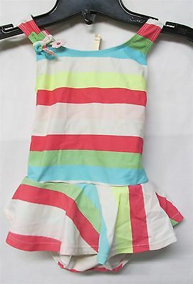 Gymboree Blue & Pink Striped One-Piece Swimsuit Toddler Size 3T