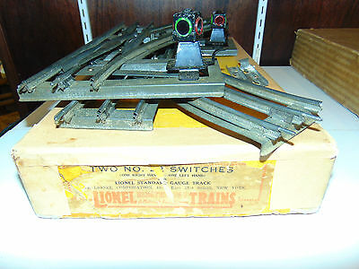 RARE Lionel Original Prewar Boxed #22 Pair of Switches