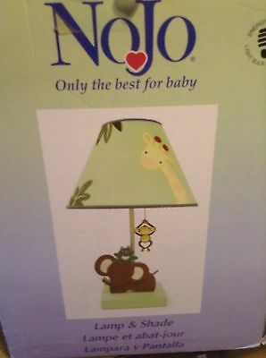 Nojo Jungle Babies Nursery Lamp Previously Owned Unused In Box