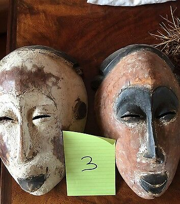 Antique African Mask Pair
