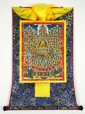 24Inch Tibet Buddhist Thangka The Great Perfection - Refuge Field of Shakyamuni