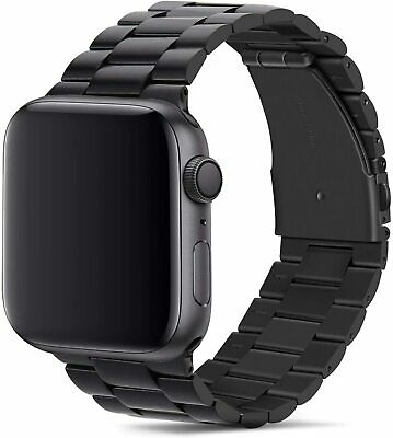 Cinturino per Apple Watch da 42mm, Band Strap in Acciaio Inossidabile, Nero
