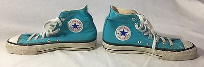 Vintage EXTRA  STITCH, USA-MADE Converse All Star TURQUOISE, Men's 7 Rare