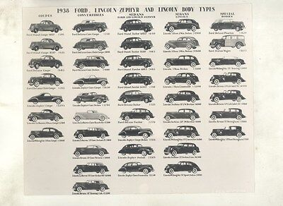 1938 Lincoln K Ford Lincoln Zephyr ORIGINAL Factory Photo ww7493
