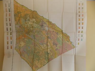 Antique 1904 Soil Map Bamberg County South Carolina Approx 31 X 32