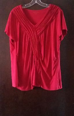 Coldwater Creek Womens Plus 1X Blouse Short Sleeve Ladies Casual Tops Shirt Top