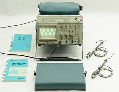 TEKTRONIX 2465A DV 4-CHANNEL 350MHz ANALOG OSCILLOSCOPE w/2*P6137 PROBES