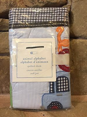 Rare Find! Brand New Pottery Barn Kids Animal Alphabet Quilted Sham Small 12X16""