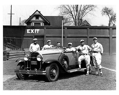 1930 Buick Convertible Coupe ORIGINAL Factory Photo Detroit Tigers oub2630