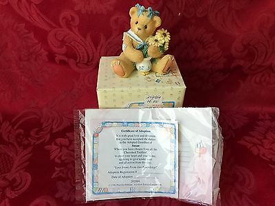 """Cherished Teddies 202894 """"susan"""" """"love Stems From Our Friendship"""" New In Box"""